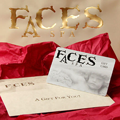 Faces Spa Gift Certificate Card