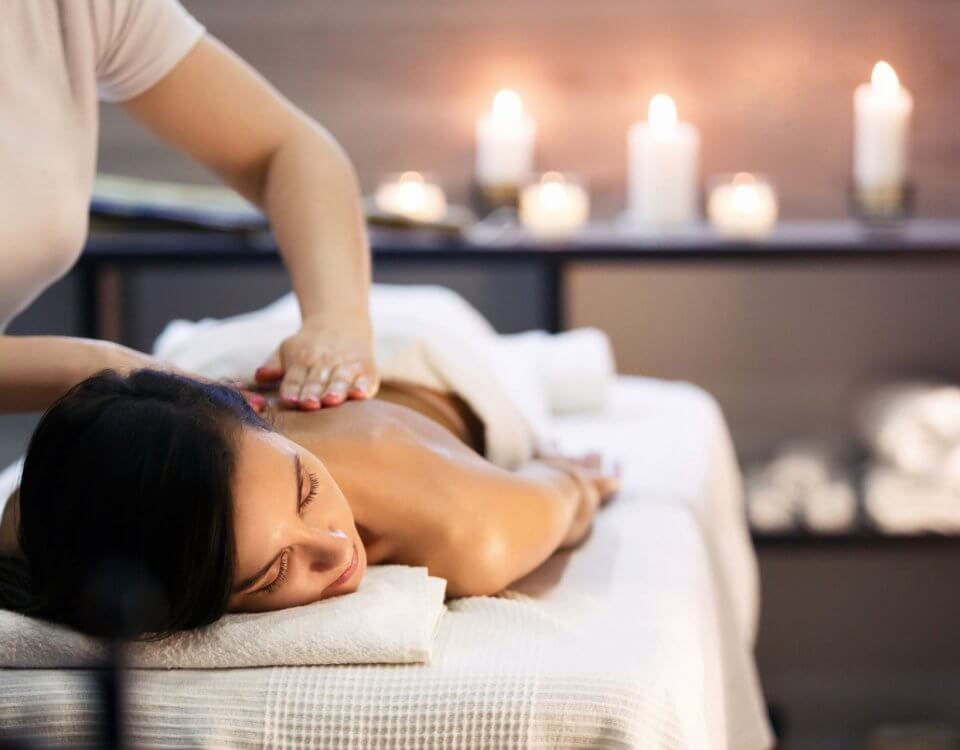 woman getting massage therapy